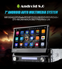 7'' 1 Din Android 8.0 Octa 8 Kern 4G RAM Autoadio / Multimedia Player für Universal GPS Navigation Stereo Radio WIFI MP3 Bluetooth USB SWC