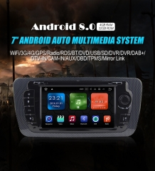 NEU 7'' Android 8.0 4GB+32GB 1024*600 HD Capacitive Touch Screen Autoradio Für Seat IBIZA