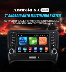 7'' Android 8.0 Octa-core 4GB RAM 32GB Flash 1024*600 HD Autoradio Für AUDI TT